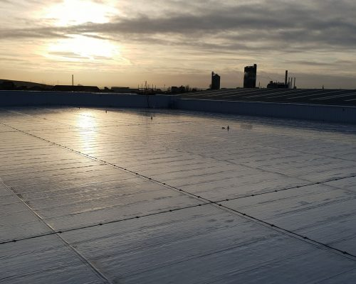 One of our recent flat roofing projects in Lilliput