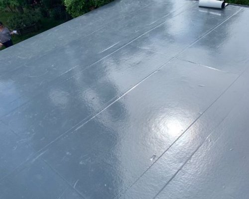 A flat roof installed by our team.