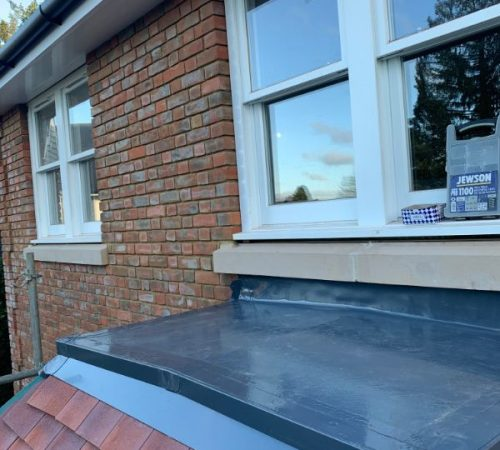 A flat roof installed by us.
